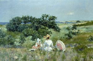 CHASE: FAIRY TALE, 1892. William Merritt Chase: The Fairy Tale. Oil on canvas, 1892.