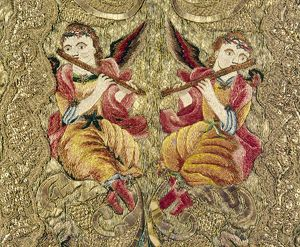 angels/chasuble 18th century chasuble embroidered gold