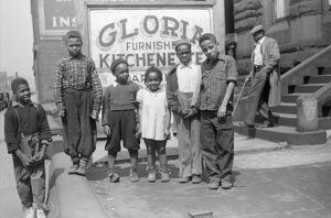 CHICAGO: CHILDREN, 1941. A group of African American children in the 'Kitchenette'