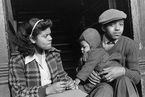 CHICAGO: FAMILY, 1941. An African American family in Chicago, Illinois