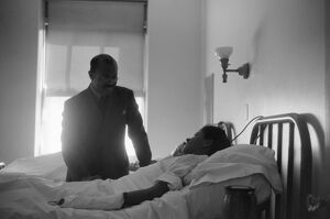 CHICAGO: HOSPITAL, 1941. A doctor and patient at Provident Hospital, one of the