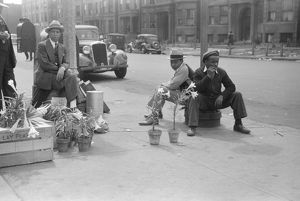 CHICAGO: LILY VENDORS, 1941. Lily vendors on the South Side of Chicago, Illinois