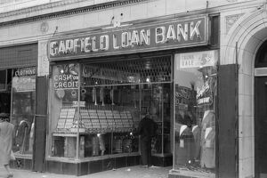 CHICAGO: LOAN BANK, 1941. A loan bank on the South Side of Chicago, Illinois