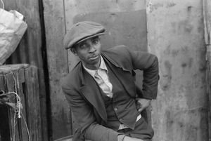CHICAGO: MAN, 1941. Portrait of an African American man in Chicago, Illinois