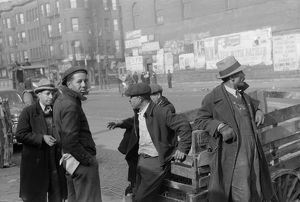 CHICAGO: MEN, 1941. Group of African American men in Chicago, Illinois