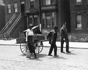 CHICAGO: RACE RIOT, 1919. A police officer leading an African American couple to