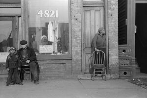 CHICAGO: STOREFRONT, 1941. A storefront in Chicago, Illinois. Photograph by Edwin Rosskam