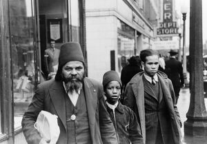 CHICAGO: STREET, 1941. Group in religious attire on a Chicago street