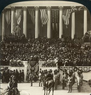 american elections/chief justice melville fuller administering oath