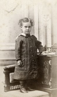 CHILD, c1880. Portrait of a young child. Carte de visite from a photography studio