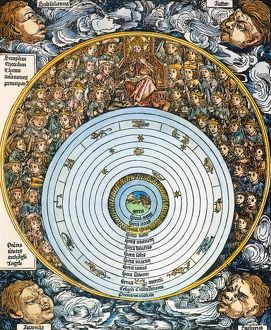 Christian/Ptolemaic conception of the universe, with the Earth at the center, embraced
