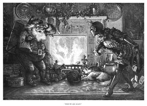 CHRISTMAS & NEW YEAR, 1878. 'Here We Are Again!' Santa Claus and Baby New Year