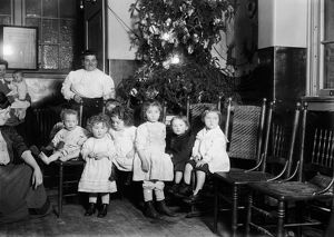 CHRISTMAS TREE, C1912. Christmas tree at a lodging house in New York City. Photograph