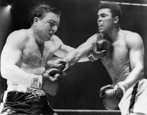 CHUVALO AND ALI, 1966. Canadian boxer George Chuvalo and American boxer Muhammad Ali