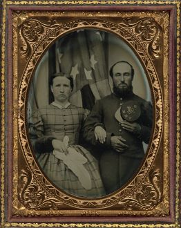CIVIL WAR: COUPLE, c1863. A soldier of the 12th New Hampshire Infantry Regiment