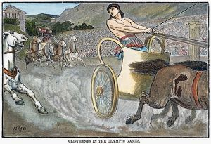 Cleisthenes of Sicyon (c600-570 B.C.) winning the chariot race at the Olympic Games