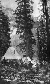 COLORADO: MINING CAMP, 1893. Miners in camp in the Owens Basin in the La Plata Mountains