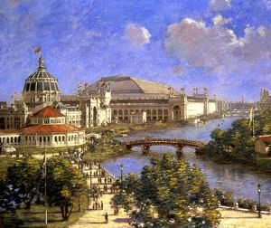 COLUMBIAN EXPO, 1893. World's Columbian Exposition at Chicago, 1893-94. Oil, 1894
