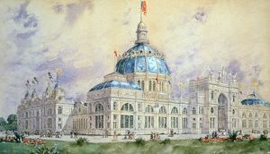 COLUMBIAN EXPOSITION, 1893. U.S. Government Building at the World's Columbian Exposition