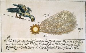 astronomy/comet 1664 comet 1664 contemporary german colored