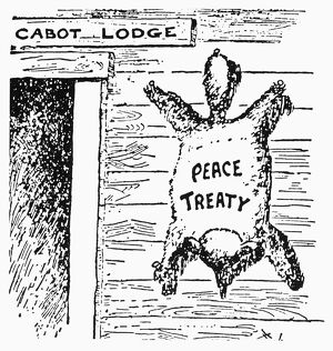 'The Coonskin on the Wall.' American cartoon, 1920, blaming the demise in the U