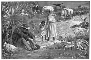 CUBA: YELLOW FEVER, 1898. ''The Home of Yellow Fever' - Santiago de Cuba, July, 1898