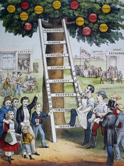 currier ives/currier ives fortune ladder fortune lithograph