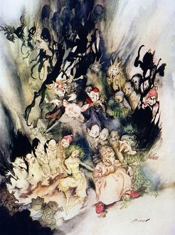 The Dance of the Trolls. Illustration by Arthur Rackham (1867-1939) for an edition