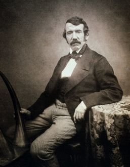 DAVID LIVINGSTONE (1813-1873). Scottish missionary and explorer. Photographed c1864-65.