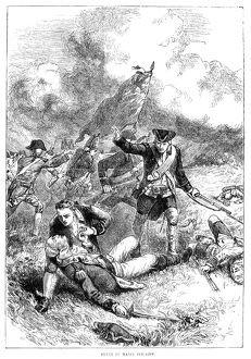 The death of Major John Pitcairn of the British Royal Marines at the Battle of Bunker