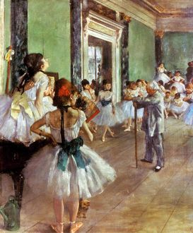 DEGAS: DANCE CLASS, c1874. Edgar Degas: The Dance Class. Oil on canvas, c1874.