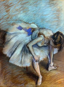 DEGAS: DANCER, 1881-83. Edgar Degas: Seated Dancer. Pastel on paper, 1881-83.