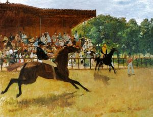 DEGAS: FALSE START, 1869-72. Edgar Degas: The False Start. Oil on canvas. 1869-72.