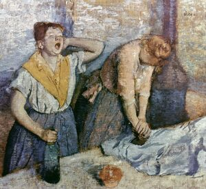 DEGAS: LAUNDRESSES, c1884. 'Two Laundresses