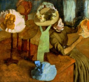 DEGAS: MILLINER, 1879-84. Edgar Degas: Millinery Shop. Oil on canvas, 1879-84.