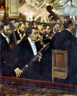DEGAS: OPERA, c1868-70. 'The Orchestra of the Opera.' Oil on canvas, c1868-1870