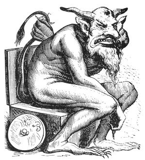DEVIL: BELPHEGOR. The Biblical demon of evil, worshipped by the Moabites (Numbers 25:3)
