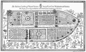 Diagram of the garden of George and Martha Washington at their home at Mount Vernon, Virginia
