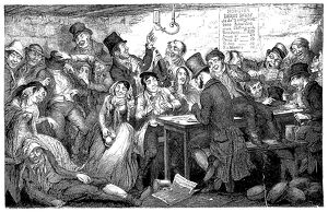 bars taverns saloons/the drunkards children fine flaring gin palace