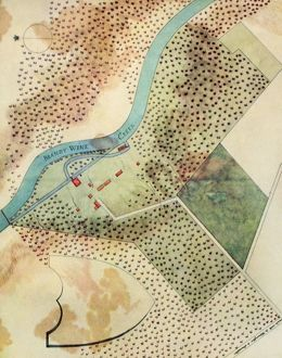 DUPONT POWDER MILLS, 1802. /nThe initial plan for the Dupont powder mills on the