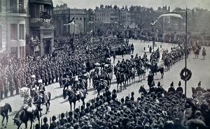 EDWARD VII: FUNERAL, 1910. The funeral cortege of King Edward VII of England, May 1910