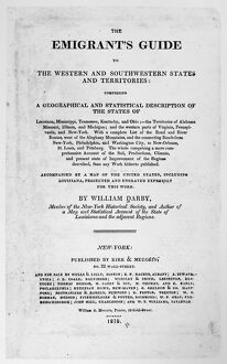 EMIGRANT'S GUIDE, 1818. Title page of 'The Emigrant's Guide to the Western