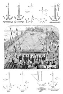 ENGLAND: ANCHOR TEST, 1852. Trial of various types of anchors at the Royal Dockyard
