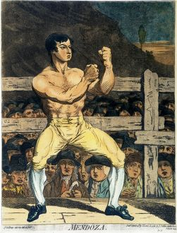 The English boxing champion Daniel Mendoza (c1763-1836): etching, c1788-95, by James