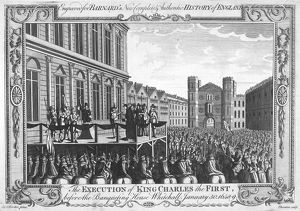 EXECUTION OF CHARLES I. The execution of King Charles I of England at Whitehall