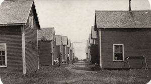 FACTORY WORKER HOUSING, 1911. Settlement of sardine workers from Factory #2 at