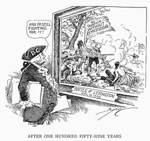 'After One Hundred Fifty-Nine Years.' American cartoon by Clifford K. Berryman