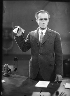 FILM: METROPOLIS, 1927. Film still with Alfred Abel as Joh Frederson.