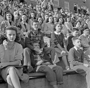 whats new/football game 1943 spectators football game