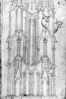 architecture/france cathedral spire drawing spire laon cathedral